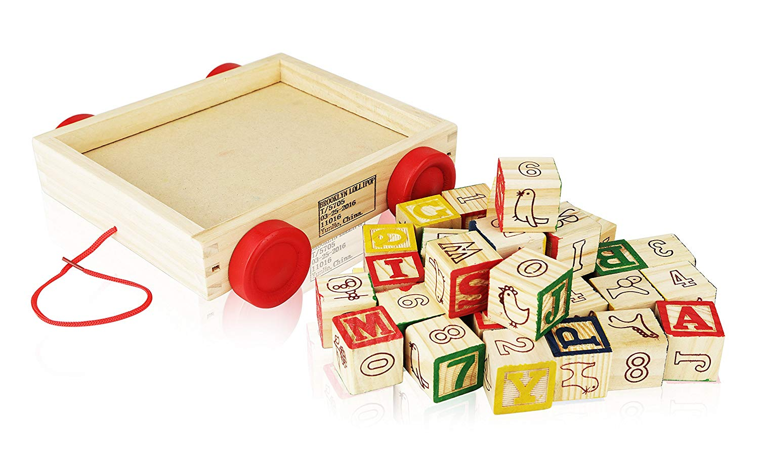 Wagon ABC Wooden Block Letters