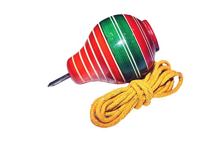 Lattu - The Indian traditional spinning top toy