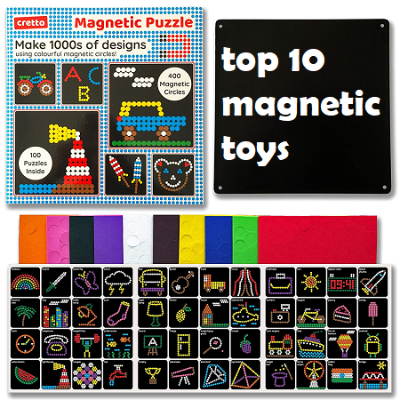 to 10 magnetic toys