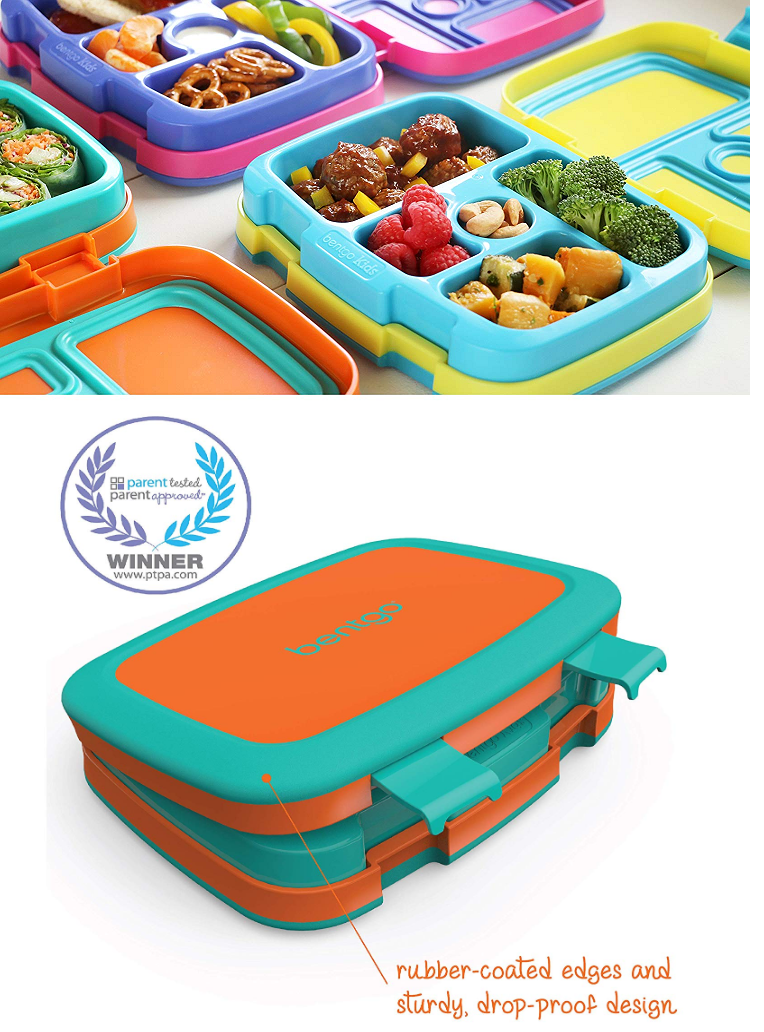 Bentgo Kids Brights – Leak-Proof, 5-Compartment Bento-Style Kids Lunch Box – Ideal Portion Sizes for Ages 3 to 7