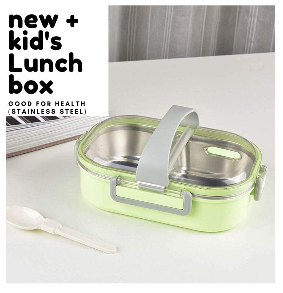 Femora Lunch Box High SS 304 Steel Lunch Box for Kids (One of The Safest Materials - Steel Lunch Box) Storage Lunch Box with Handle