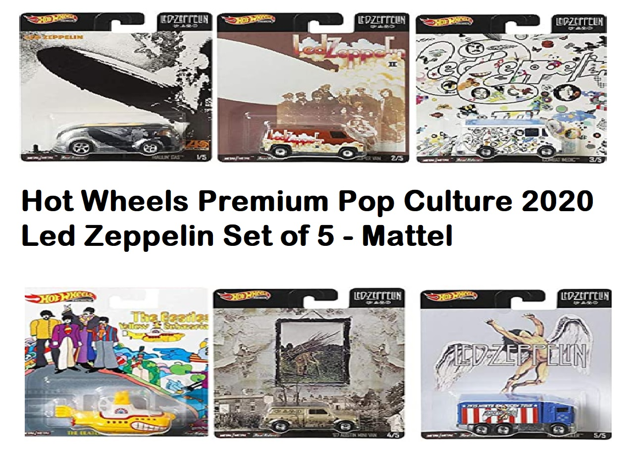 hotwheels Led Zeppelin Set