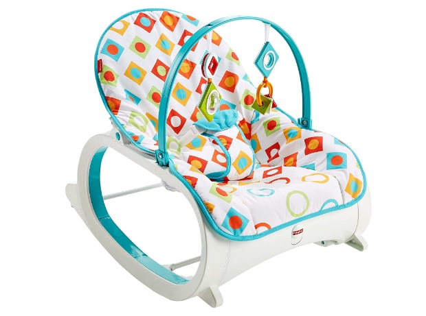 Fisher Price New Infant to Toddler Rocker - Geo Diamonds Baby Rocker