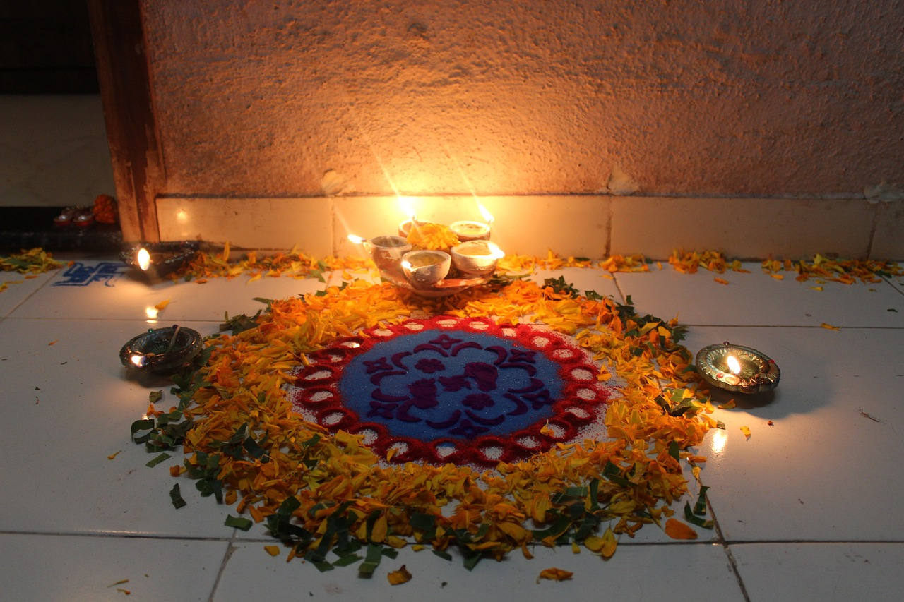 Rangoli  during diwali