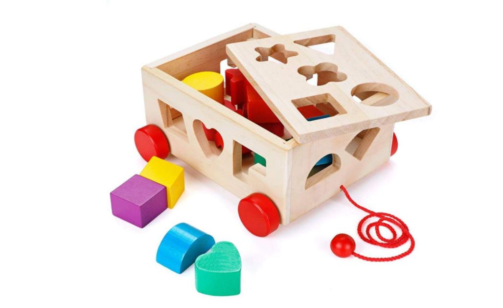 pull wagon wooden toy